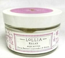 Lollia RELAX No. 8 Body Butter Lavender & Honey Cocoa Floral Infused Fragrance