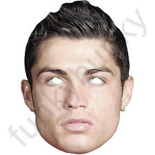 Cristiano Ronaldo Footballer Celebrity Card Mask. All Our Masks Are Pre-Cut!