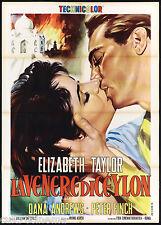 LA VENERE DI CEYLON MANIFESTO FILM ELIZABETH TAYLOR THE ELEPHANT WALK POSTER 2F