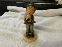 "Goebel HUMMEL ""SERENADE"" #85/0 Boy w/ Horn Porcelain Figurine TMK 2 (1950-1955)"
