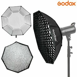Godox 95cm Oktagon Softbox Bowens Mount + Honeycomb Grid Für Studio Blitz Licht