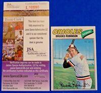 1977 TOPPS BROOKS ROBINSON SIGNED BASEBALL CARD #285 ~ JSA L10090 ~ AUTOGRAPH