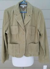Tommy Hilfiger Womens Corduroy Jacket Button Down Blazer...