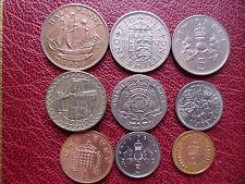 Lot penny pence shilling pound elizabeth II Royaume-Uni Grande-Bretagne