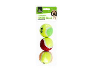 3x Pet Tennis Throw Balls Puppy Dog Toys Ball Play Fetch Bounce Chase