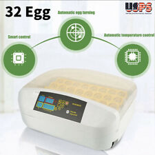 32 Eggs Automatic Turning Incubator Hatcher Temperature Control Poultry