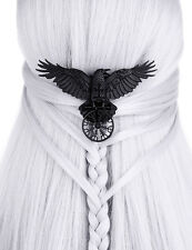 Restyle Helm of Awe Hair Clip Gothic Witchy Occult Nordic Black Crow Raven