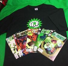 Green Lantern Glow In The Dark T-shirt XL NEW OLD STOCK 2000 + 5 DC COMICS 2006