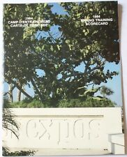 1984 Montreal Expos Spring Training Scorecard Yearbook Program w/Postcards Dawso