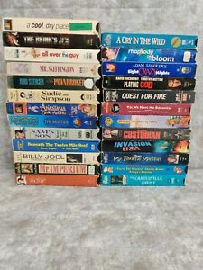 Lot Of 25 VHS Tapes Comedy Kids Drama Action Cartoon Vintage Movies