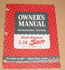 Scott-Atwater 1-14 Shift Owners Manual