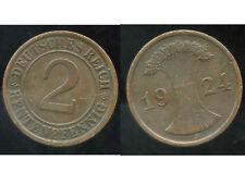 ALLEMAGNE 2  rentenpfennig  1924 J  ( bis )