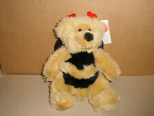 """Russ Berrie Retired Breezy The Bumble Bee Teddy Bear Soft Plush 9"""" Nwt"""