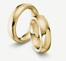 Trauringe Gold 585 - Gelbgold poliert + Ohne Steine - Breite 6mm - Stärke 3mm