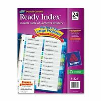 "Avery Double Column Index Divider - Printed - 8.50"" X 11"" - 24 / Set -"