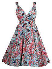 Polyester V Neck 50's, Rockabilly Dresses for Women