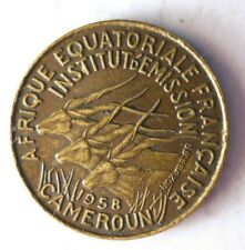 1958 CAMEROON 5 FRANCS - BIG VALUE - AU - Rare Exotic African Coin - Lot #Y6