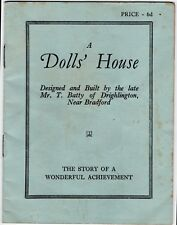 Vintage Book - A Dolls' House Designed and Built by The Late Mr T Batty C1930s