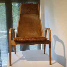 1x unique & elegant ponyskin highback Yngve Ekstrom Lamino Lounge chair-2 avail.