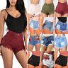 Women High Waist Denim Jeans Shorts Hotpants Summer Casual Beach Hot Short Pants