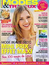 Mode et Travaux n° 1366 Septembre 2014 magazine Tricot Couture déco