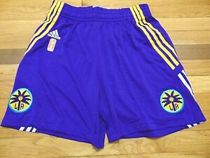 ADIDAS AUTHENTIC WNBA LOS ANGELES SPARKS REVOLUTION 30 GAME SHORTS SIZE S nba