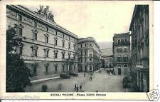 ma 01 1935 ASCOLI PICENO Piazza XXVIII Ottobre - viagg FP Ediz. Biondi Ascoli P