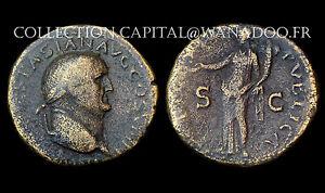 Dupondius Vespasien (69-79 Ap.J.C.) Frappe à Lyon. La Félicité debout. Bronze