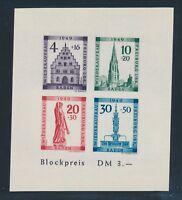 "Frz Zone BADEN 1949,Block 1 B PLF VI **,""Plattenfehler""! Tadellos! Mi. 300,--!!"