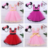 Baby Kid Flower Girls Sequins Princess Dress Wedding Bridesmaid Party Costumes