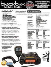 BlackBox Mobile Professional 2-Way Radio VHF or UHF Model