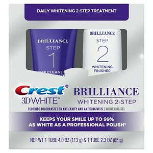 Crest 3D White Brilliance Two Step Toothpaste, 4.0 oz and 2.3 oz.
