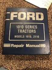 Ford Models 1910 Amp 2110 Compact Utility Tractor Shop Service Repair Manual Book