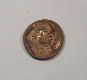 1847 Cambodia 2 Pe 1/2 Fuang World Coin Copper billon Hamza Bird