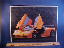new 1996 McLaren F-1 LM exotic full-color calendar art w/backer board to frame