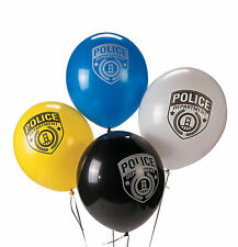 """24 POLICE PARTY 11"""" Latex Balloons Boys Girls PARTY Decorations"""