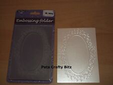 Hobby Solutions / Crafts Too Universal Embossing Folder Oval Frame HSF004