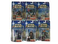 Star Wars Attack of the clones Phantom Menace Action Figures Lot of 6 NIB