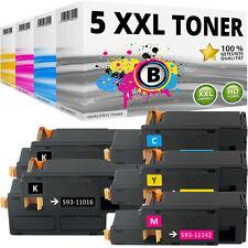 5x XL TONER für DELL 1250C 1350CNW 1355CN 1355CNW C1760NW C1760NF C1765NFW SET