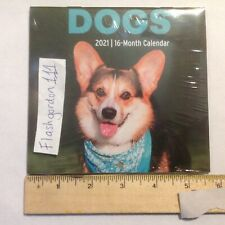 1 ~ 2021 Dogs 16-month Mini Wall Calendar ~ Small Puppy Dog Christmas Gift 5x5