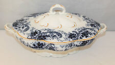 Lovely Melville B&s Large Blue And White Tureen 1840-1900 Adams