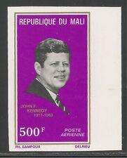 Mali #C204 (AP85) VF MNH IMPERF.- 1973 500fr John F. Kennedy