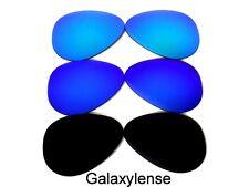 Rechange Lentilles pour Ray Ban Rb3025 Lunettes de Soleil Aviateur Noir    Bleu   f19f80e62c05