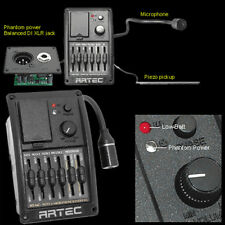 ARTEC HT-MC Acoustic Guitar MICROPHONE BLENDER PREAMP Complete w/ TWO PICKUPS