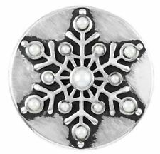 """Get 1 $6.95 Snap Free sn19-12 Ginger Snaps Jewelry """"Pearl Snowflake� Buy 4"""