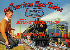 Gilbert American Flyer Trains 1930 Large Size Poster Advert Shop Sign Leaflet