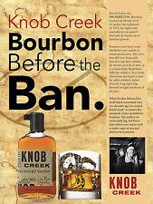 Knob Creek Bourbon Whiskey, Retro Letrero De Metal/placa Cueva de hombre Bar Pub