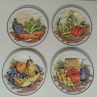 4 Piatti piatto ceramica artistica Mazzara Carbonera (Tv) dipinti firmati 4X