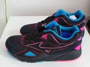 "Mizuno Sky Medal ""Lights""Trainer UK 8 Pink Black Blue Rare Hanon BNWT"