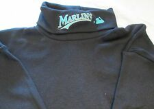 MLB Miami Marlins Long Sleeve Turtle Neck T-Shirt Small Embroidery logo
